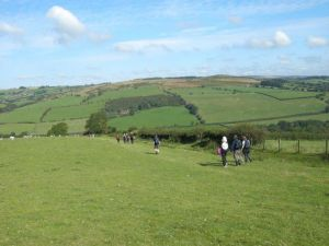 Walking along Hergest Ridge on the 2012 walk