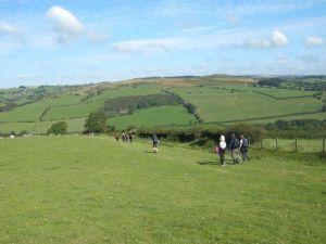 Walking along Hergest Ridge on the 2012 walk