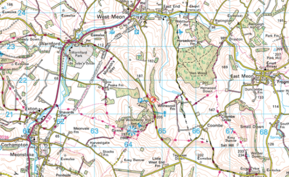 Wickham Meon Walk Map