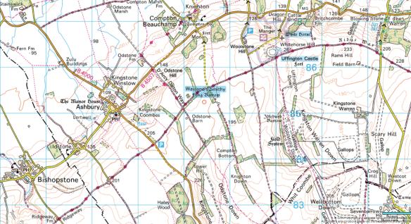 Bishopstone to Whitehorse Hill